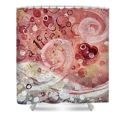 Life What Do You Want Shower Curtain by Kristen Abrahamson