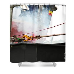 Lifeboat Chocks Away  Shower Curtain