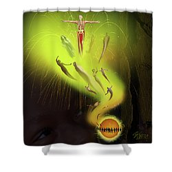 Lifedeath Shower Curtain