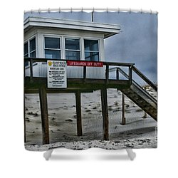 Lifeguard Station 1 Shower Curtain by Paul Ward