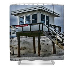 Lifeguard Station 2  Shower Curtain by Paul Ward