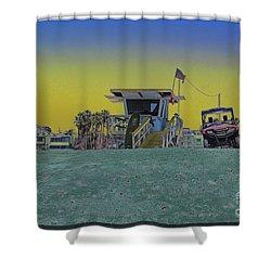 Lifeguard Tower 4 Shower Curtain