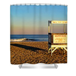 Lifeguard Stand At Ocean City Nj Shower Curtain