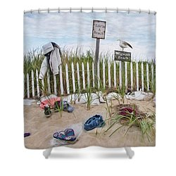 Shower Curtain featuring the photograph Life's A Beach by Robin-Lee Vieira