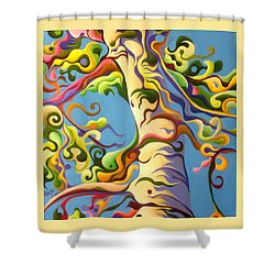 Life's A Birch Shower Curtain