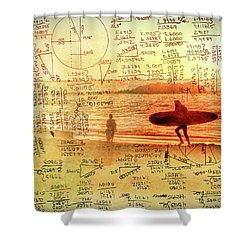 Life's Crossing Shower Curtain by Charles Ables