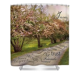 Life's Journey Shower Curtain