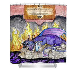 Life's Little Inferno Cafe Shower Curtain