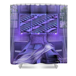 Shower Curtain featuring the digital art Lifestyle Art - A Purple Bedroom By Rgiada by Giada Rossi