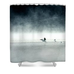 Shower Curtain featuring the photograph Lift-off by Brian N Duram