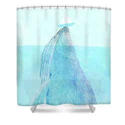 Lift Option Shower Curtain by Eric Fan