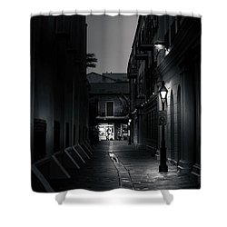 Light Along The Church In Black And White Shower Curtain