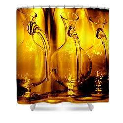 Light And Color Play II Shower Curtain by Jenny Rainbow