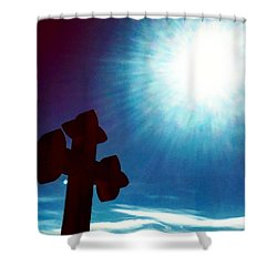 Light And Shadow Clash Shower Curtain