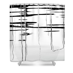 Light And Shadow Reeds Abstract Shower Curtain
