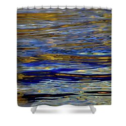 Light And Water  Shower Curtain by Lyle Crump