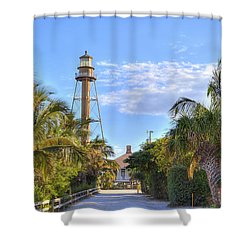 Light At The End Of The Road Shower Curtain