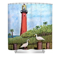 Light Beacon Shower Curtain