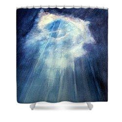 Light Beams Shower Curtain