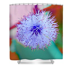 Light Blue Puff Explosion Shower Curtain