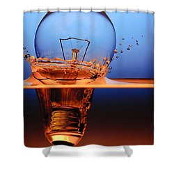 Shower Curtain featuring the photograph Light Bulb And Splash Water by Setsiri Silapasuwanchai