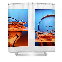 Light Bulb Drop In To The Water Shower Curtain by Setsiri Silapasuwanchai