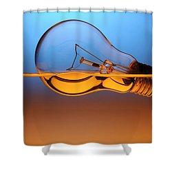 Light Bulb In Water Shower Curtain by Setsiri Silapasuwanchai