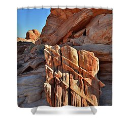 Light Creeps In At Valley Of Fire State Park Shower Curtain