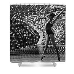 Shower Curtain featuring the photograph Light Dance by Alan Raasch