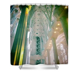 Light Dancing On The Ceiling Shower Curtain