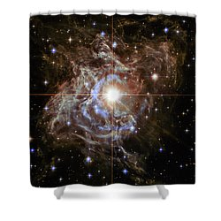 Shower Curtain featuring the photograph Light Echoes by Marco Oliveira