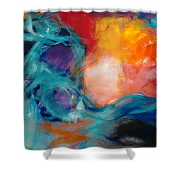 Light Energy Shower Curtain