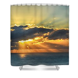 Shower Curtain featuring the photograph Light Explosion by AJ Schibig