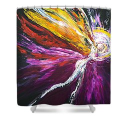 Shower Curtain featuring the painting Light Fairy by Marat Essex