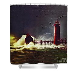 Light House 07 Shower Curtain by Gull G