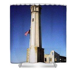 light house Alcatraz SF bay area Shower Curtain