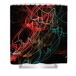 Light In Motion Shower Curtain by David Lane
