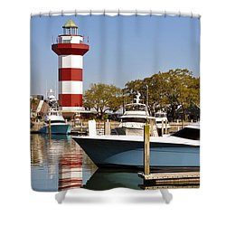 Light In The Harbor Shower Curtain by Kay Lovingood