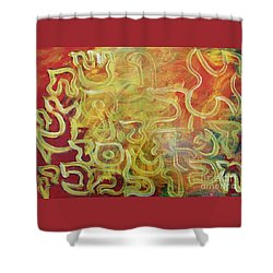 Light In The Letters Shower Curtain