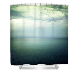 Light In The Sky Above The Dark Gloomy Sea Shower Curtain