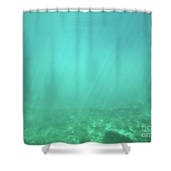 Shower Curtain featuring the photograph Light In The Water by Francesca Mackenney