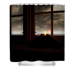Light In The Window Shower Curtain