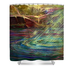 Light In Water Shower Curtain