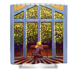 Light Lit Shower Curtain