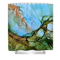 Shower Curtain featuring the painting Light My Fire by Pat Purdy