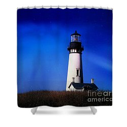 Light My Way Shower Curtain by Sheila Ping