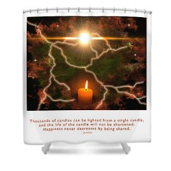 Shower Curtain featuring the photograph Light Of A Single Candle by Kristen Fox