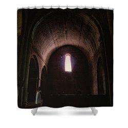 Shower Curtain featuring the photograph Light Of God by Rasma Bertz