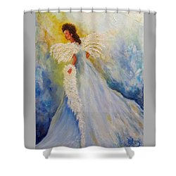 Light Of Grace,angel Shower Curtain