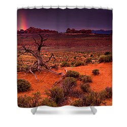 Light Of The Desert Shower Curtain by John De Bord
